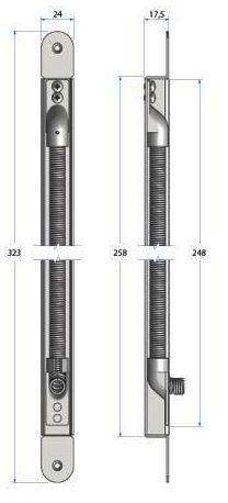 Accessoires flexible à encastrer en acier chromé - ouverture 100°