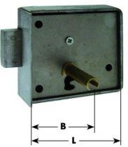 Serrure en applique type armoire - coffre à cloison rapportée