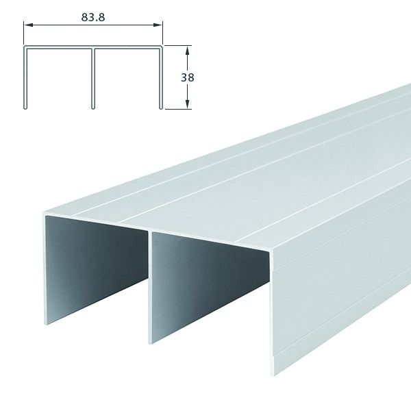ferrure de portes coulissantes bois profil soft. Black Bedroom Furniture Sets. Home Design Ideas