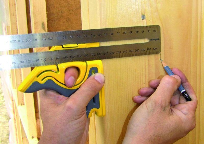 Outils pour maisons ossature bois equerre combinaison - Equerre a combinaison ...