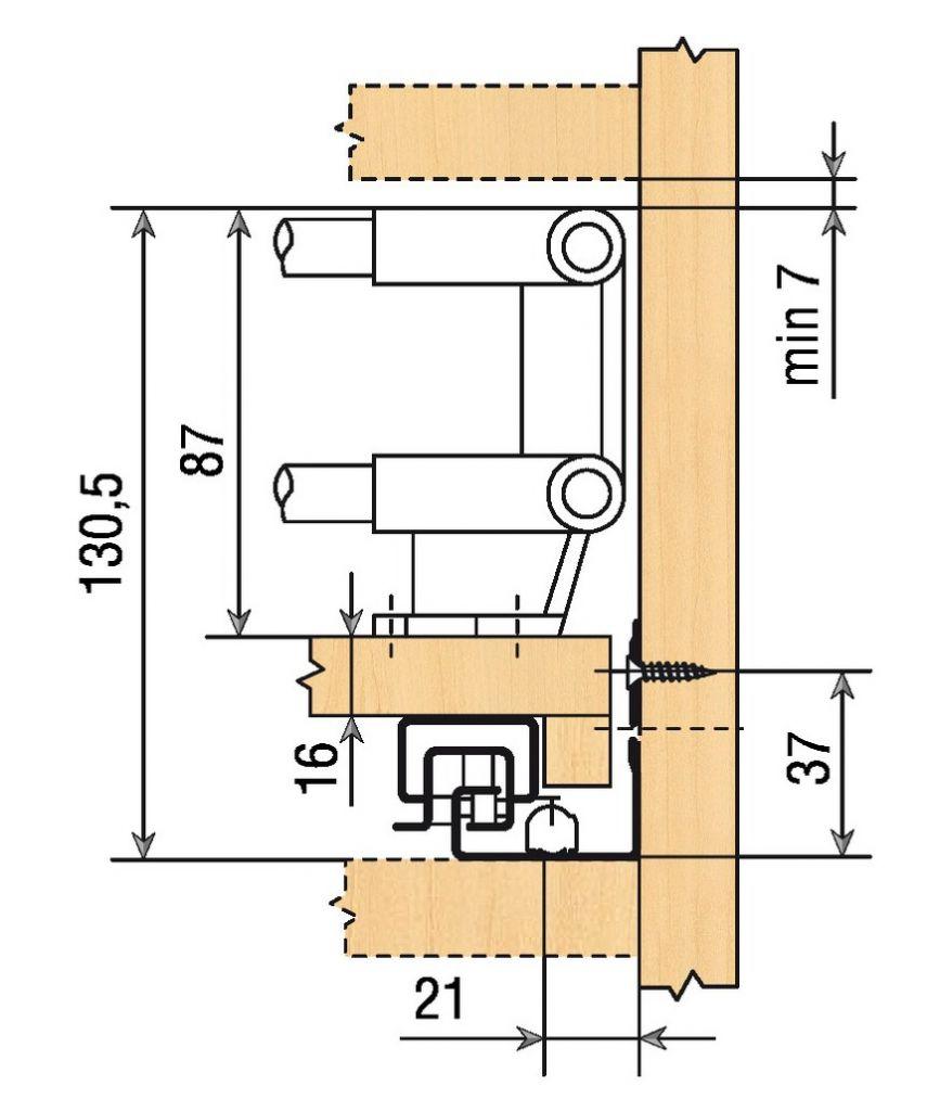 Blum tandem blumotion pi ce d 39 angle pour tablette - Coulisse tiroir grande longueur ...