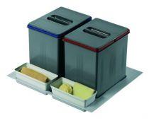Poubelle de cuisine pour tiroir a tri s lectif - Petite poubelle tri selectif ...