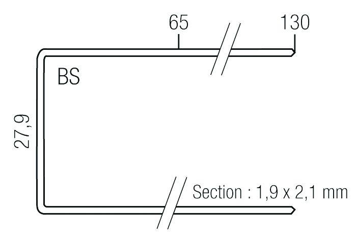 Agrafeuse pneumatique gros oeuvre agrafe type SP pour WC 330-SP