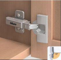 Blum charni�re invisible � 35 mm s�rie Clip Top porte applique �paisse - ouverture 95�