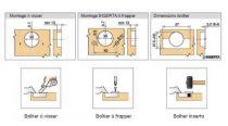 Blum charni�re invisible � 35 mm s�rie Clip Top porte encastr�e - ouverture 110�