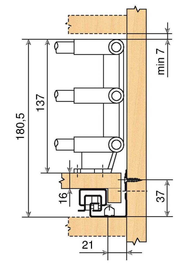 Blum tandem pi ce d 39 angle pour tablette - Coulisse de tiroir grande longueur ...