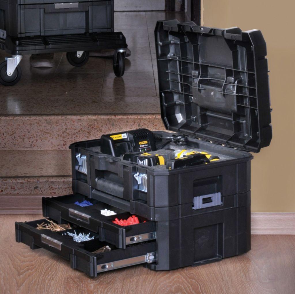 bo te outils kit malette malette 2 tiroirs tstak. Black Bedroom Furniture Sets. Home Design Ideas