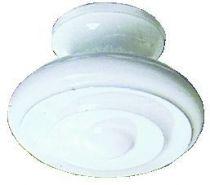 Bouton finition laiton / époxy blanc