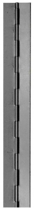 Charnière capot double feuille roulée - non percée - axe acier - épaisseur 0,8 mm
