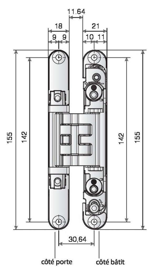 Charnière Kubica K2400