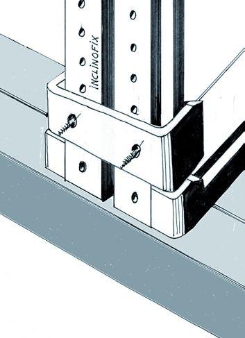 ferrure de porte coulissante bois clip fixation invisible pour systemfix ou inclinofix. Black Bedroom Furniture Sets. Home Design Ideas