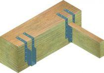 Connecteur métallique assemblage bois Sabot de solive - A bretelles : ø trous de 4,0 mm