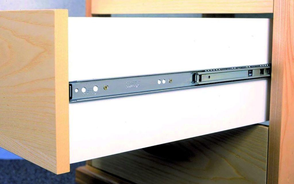 Coulisses billes sortie totale dz 2601 25 45 kg la - Coulisse tiroir grande longueur ...