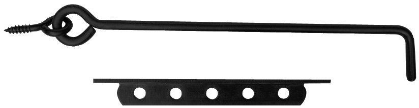 Crochet à crémaillère acier noir