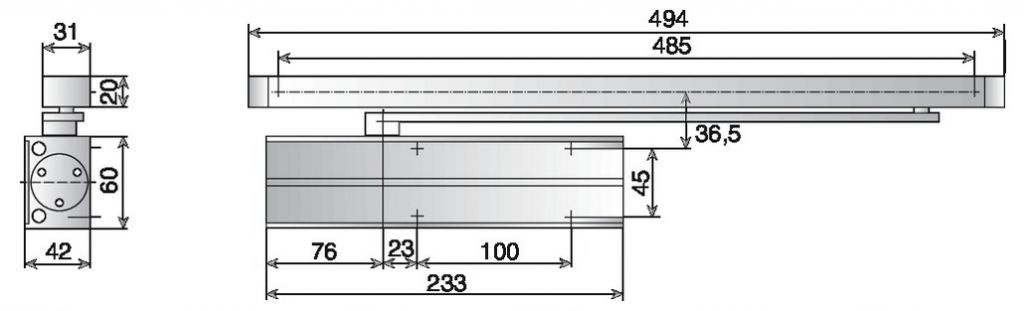 Ferme-porte DC 130