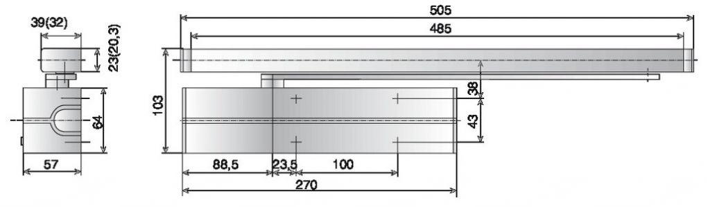 Ferme-porte DC 700