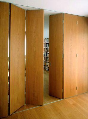 Ferrure de portes coulissantes pliantes bois variofold 80 h - Fabriquer porte coulissante suspendue ...