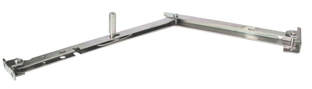 Ferrure de volets et portails Bras de projection pour persienne - Zingué blanc