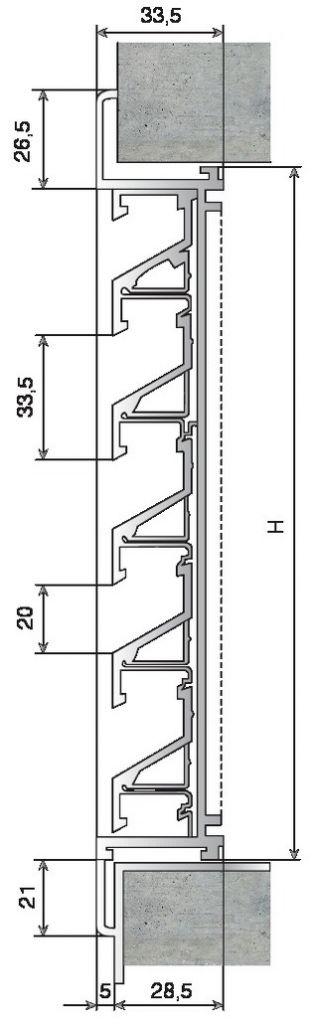Grille murale alu anodis naturel for Grille de ventilation murale
