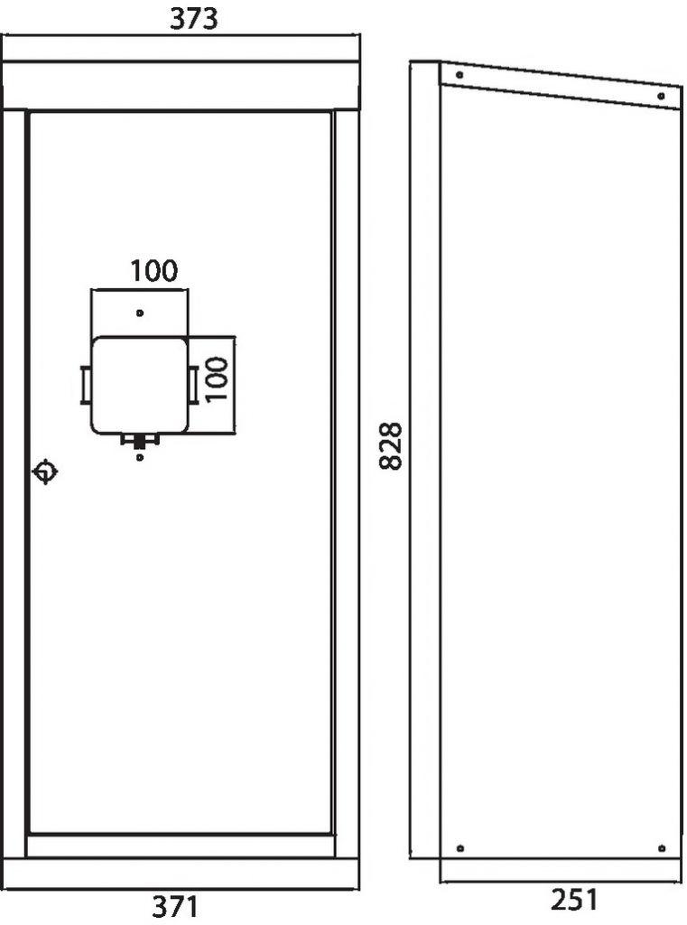 Guerite extincteur 6/9kg prélaquée