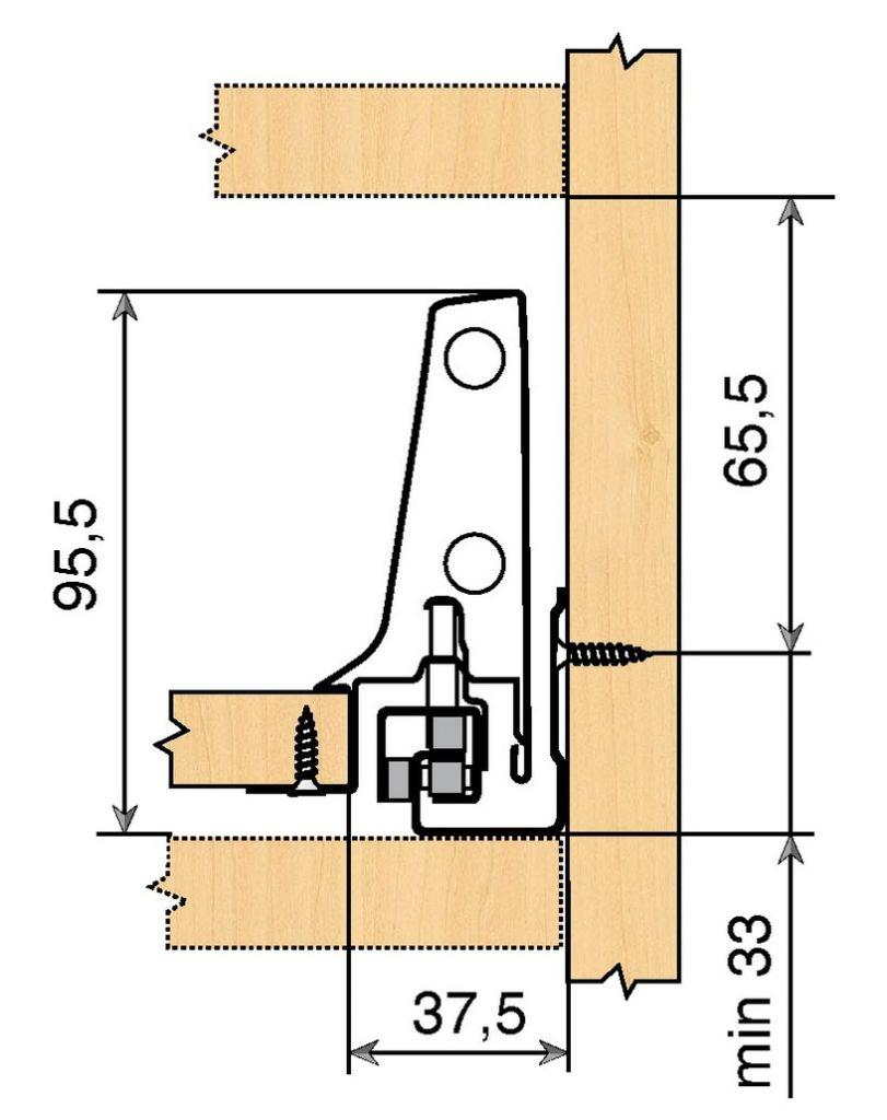 Kit antaro TIP-ON hauteur M : 98,5 mm - gris