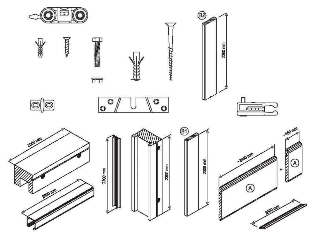 porte galandage scrigno kit coul. Black Bedroom Furniture Sets. Home Design Ideas