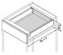 Kit intivo TIP-ON hauteur M : 98,5 mm - inox