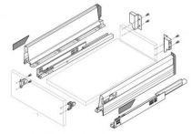 Kit Tandembox hauteur M : 96,5 mm