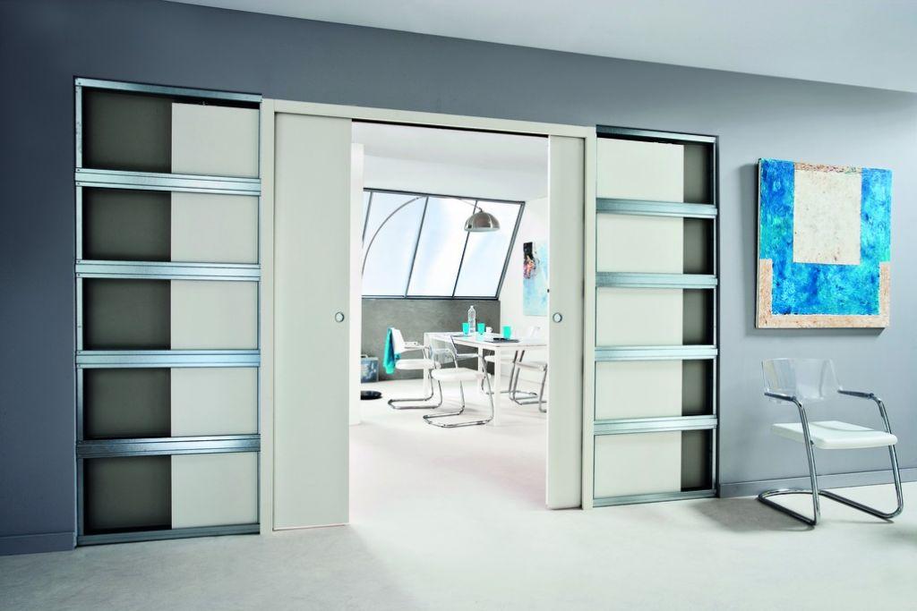 porte galandage edac kit transformation 2 vantaux avec habillage bois. Black Bedroom Furniture Sets. Home Design Ideas