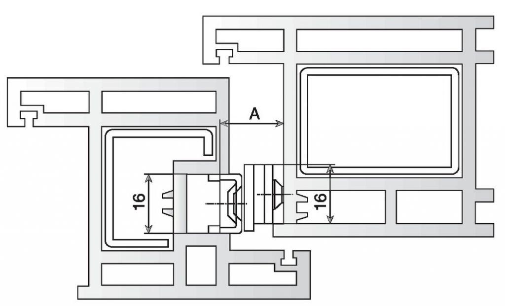 Loqueteau compas de soufflet pour menuiserie pvc for Blocage fenetre pvc