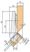 Ouverture 94° - angle + 45°
