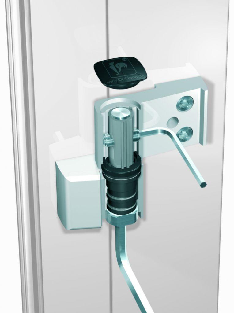Paumelle s rie 6 at pour porte aluminium jusqu 39 14 kg - Charniere de porte d entree ...