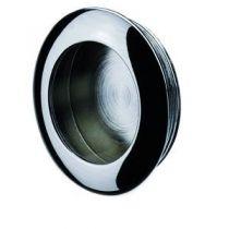 Poignée classique a encastrer - platine ronde zamack - profondeur 8 mm