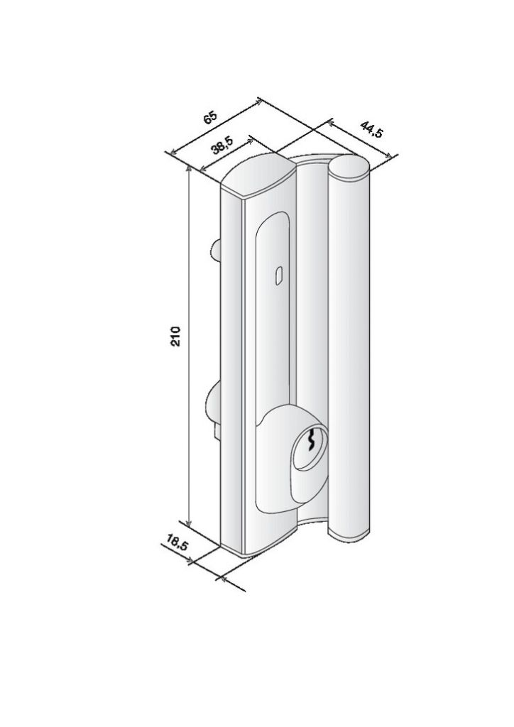 Poign e c t int rieur r versible pour serrure stremler for Cote standard porte interieur
