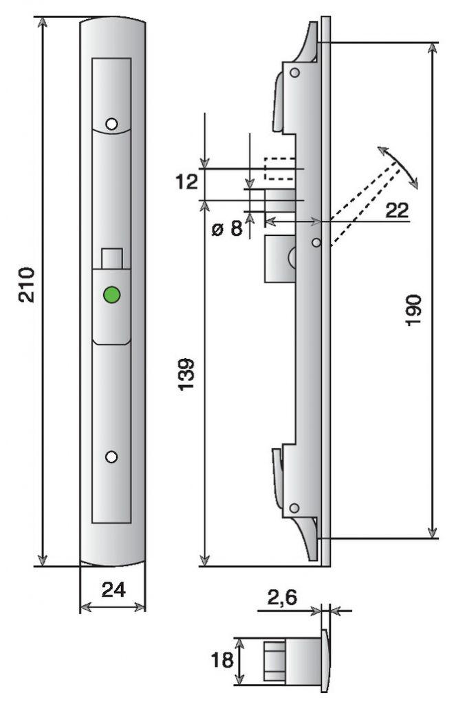 poign e pour serrure stremler 641 cuvette levier encastrer. Black Bedroom Furniture Sets. Home Design Ideas