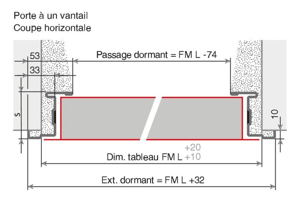 Porte 1 vantail r versible ral 91 gamme univer for Porte 1 vantail