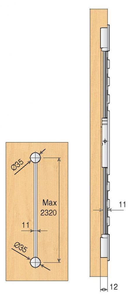 Raidisseur pour portes coulissantes for Point p porte coulissante