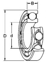 Roulements à billes type 2Z avec 2 cages métalliques