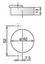 Série F - pour porte 40 mm maxi