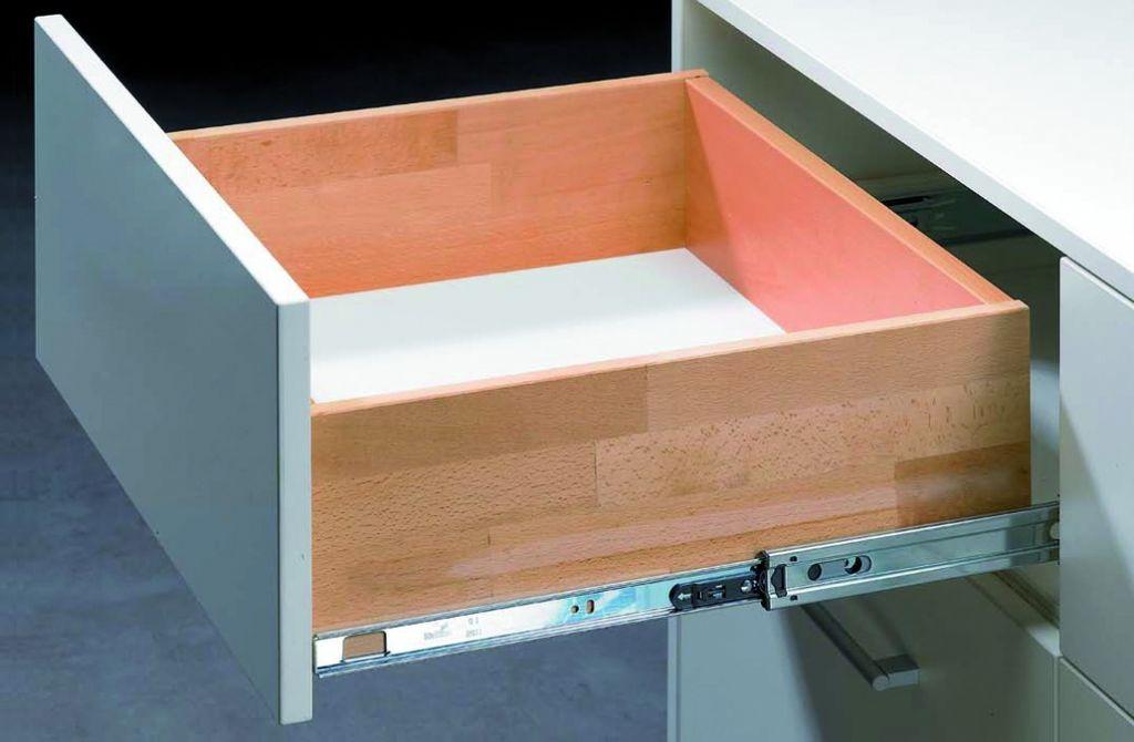 coulisses billes sortie totale 35 kg montage querre avec push to open. Black Bedroom Furniture Sets. Home Design Ideas