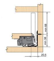 Tiroir LEGRABOX hauteur M : 106 mm - blanc soie mat