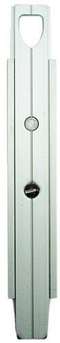 Verrou à plaquer en profilé aluminium - Section 26 x 7,5 mm