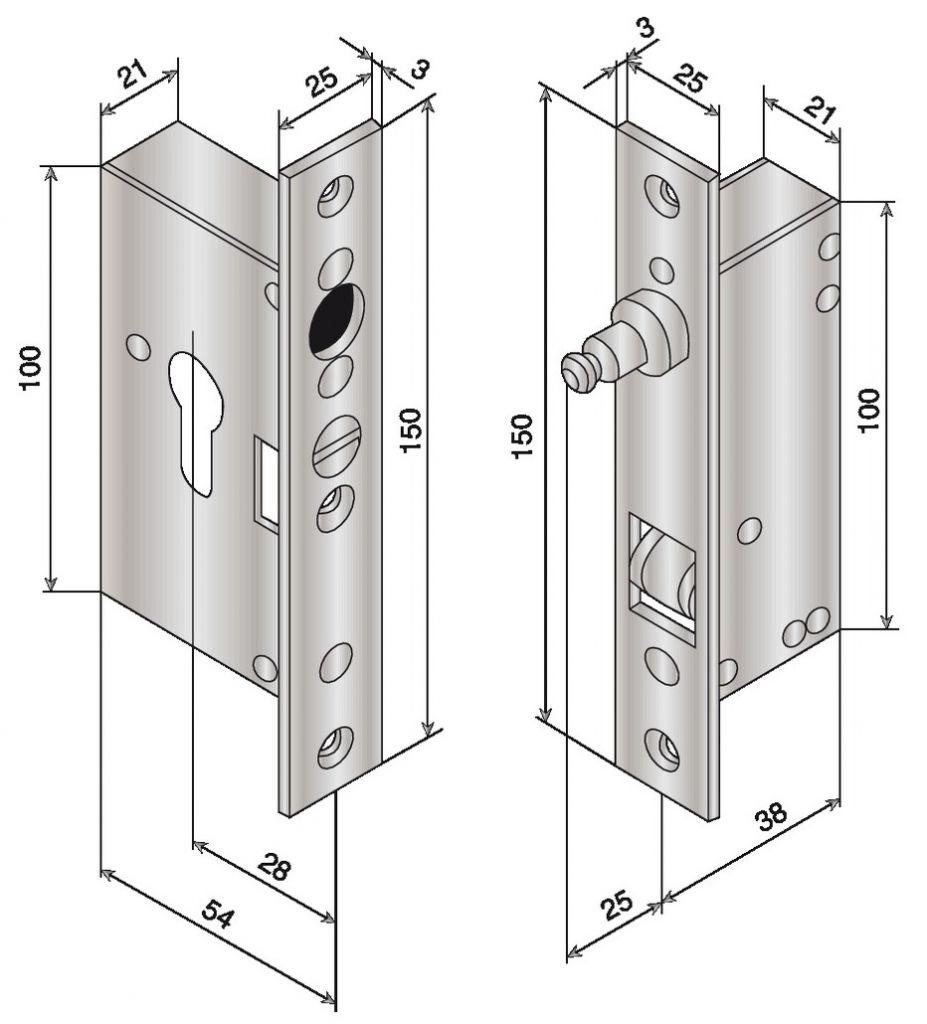 Serrure de porte coulissante electro - verrou 12 V