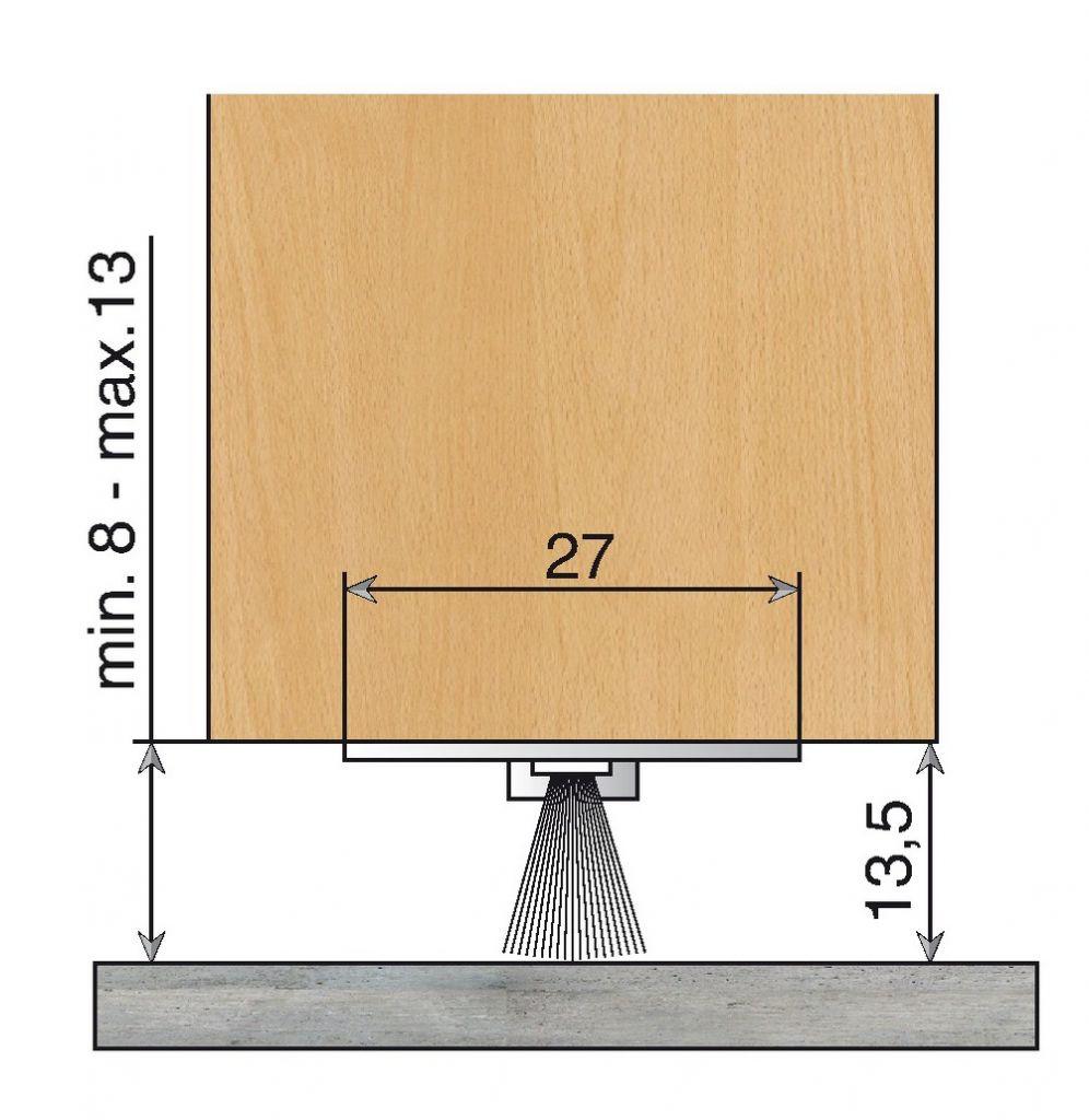 Plinthe anti vent fixe aluminium à brosse - DBS invisible