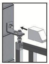 Pivot pour portail a cheviller