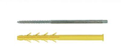 Accessoires pour volets I N G sachet de 10 pattes à vis M8 x 210 - cheville 10 x 200