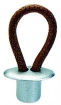 Bouton classique boucle cuir