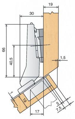 blum charni re invisible d 39 angle 35 mm s rie clip top amortisseur int gr et d condamnable. Black Bedroom Furniture Sets. Home Design Ideas
