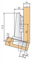 Blum charnière invisible d'angle ø 35 mm série Clip Top amortisseur intégré et décondamnable