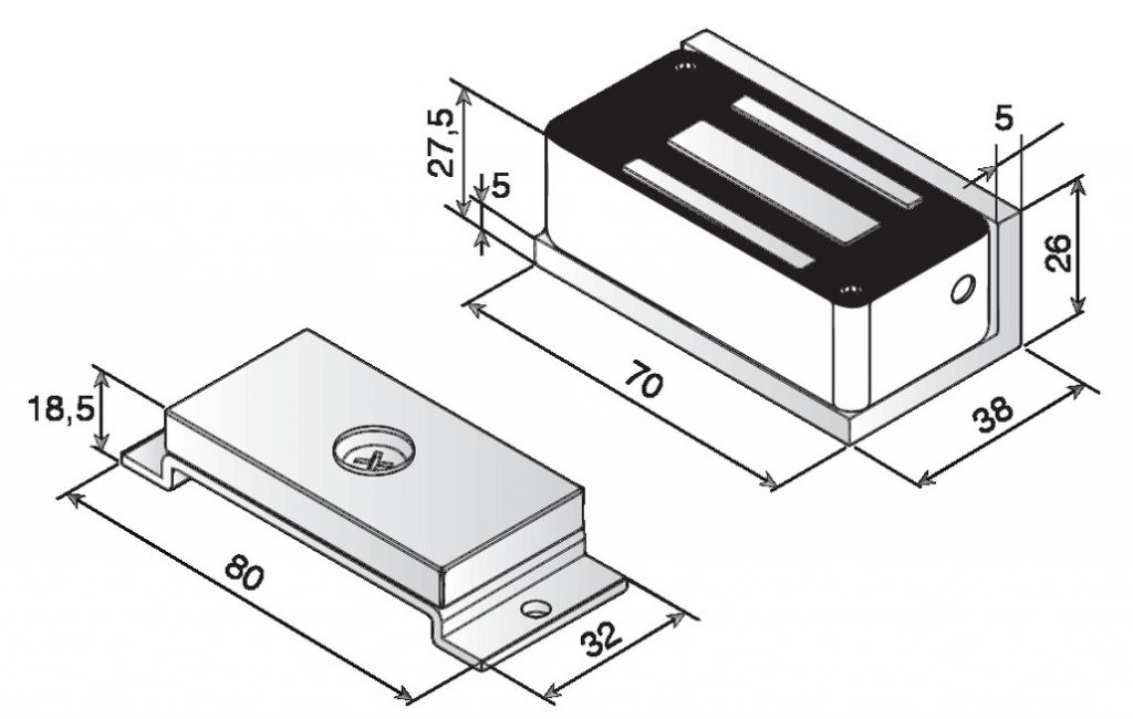 Fermeture par ventouse compacte